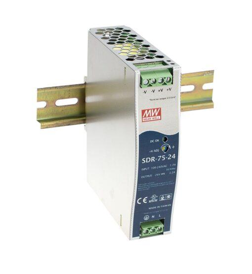 Nguồn Meanwell SDR-75-12 (75.60W/12V/6.30A) 1